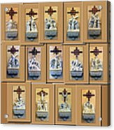Stations Of The Cross Collage Acrylic Print