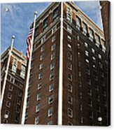 Statler Towers Acrylic Print by Peter Chilelli