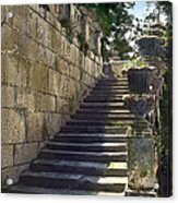 Statue And Stairs Acrylic Print