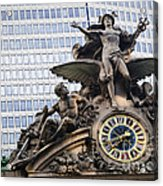 Statue At Grand Central Station Acrylic Print