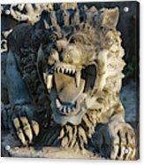 Statue At Tanah Lot Acrylic Print