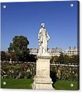 Statue At The Jardin Des Tuileries In Paris France Acrylic Print