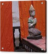 Statue At Wat Phnom Penh Cambodia Acrylic Print