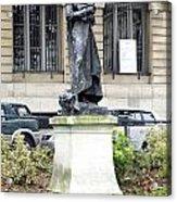 Statue In A Paris Park Acrylic Print