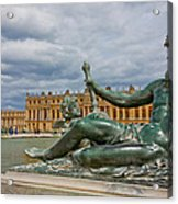 Statue In Front Of Versailles Acrylic Print