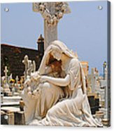 Statue Mourning Woman Acrylic Print