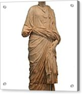 Statue Of A Roman Priest Wearing A Toga Acrylic Print