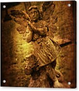 Statue Of Angel Acrylic Print by Amanda Elwell