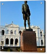 Statue Of Gregory Outside National Museum Colombo Sri Lanka Acrylic Print