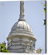 Statue Of Justice On Top Of New York City Hall Acrylic Print