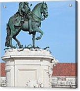 Statue Of King Jose I In Lisbon Acrylic Print