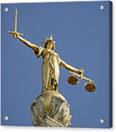 Statue of Lady Justice Acrylic Print