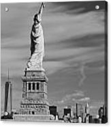 Statue Of Liberty And The Freedom Tower Acrylic Print