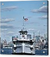 Statue Of Liberty Ferry Acrylic Print