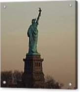 Statue Of Liberty From The Jersey Side Acrylic Print