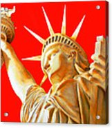S T A T U E . O F . L I B E R T Y .  In Red Acrylic Print