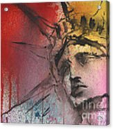 Statue Of Liberty New York Painting Acrylic Print by Svetlana Novikova