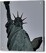 Statue Of Liberty - Paris France - 01132 Acrylic Print by DC Photographer