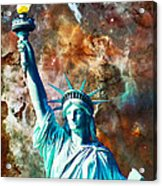 Statue Of Liberty - She Stands Acrylic Print