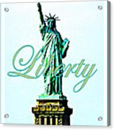 Statue Of Liberty Acrylic Print by The Creative Minds Art and Photography