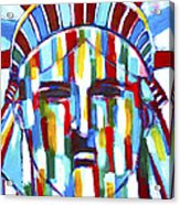 Statue Of Liberty With Colors Acrylic Print