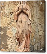 Statue Of Mary In Mission Garden Acrylic Print