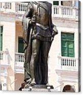 Statue Of Pedro De Heredia Acrylic Print