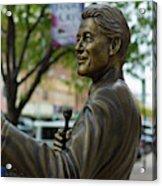 Statue Of Us President Bill Clinton Acrylic Print