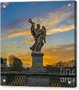 Statue With Cross Acrylic Print
