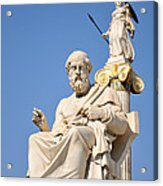 Statues Of Plato And Athena Acrylic Print