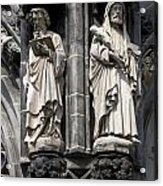 Statues Of The Aachen Cathedral Germany Acrylic Print