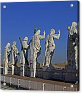 Statues On Facade Of St Peters Acrylic Print