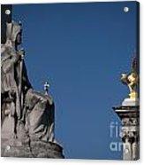 Statues On Pont Alexandre IIi Acrylic Print