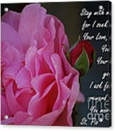 Stay With Me Acrylic Print