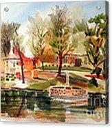 Ste. Marie Du Lac With Gazebo And Pond I Acrylic Print