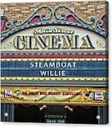 Steam Boat Willie Signage Main Street Disneyland 01 Acrylic Print