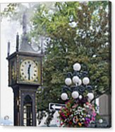 Steam Clock At Gastown In Vancouver Bc Acrylic Print