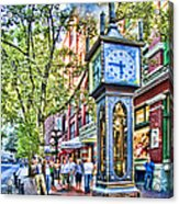 Steam Clock In Vancouver Gastown Acrylic Print