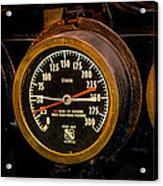 Steam Engine Gauge Acrylic Print