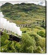 Steam Engine On Glenfinnan Viaduct Acrylic Print