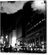 Steam Heat - New York At Night Acrylic Print