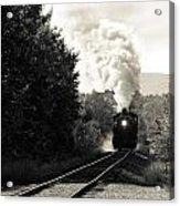 Steam On The Rails Acrylic Print