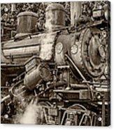 Steam Power Sepia Acrylic Print