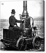 Steam Powered Rail Cart C. 1892 Acrylic Print