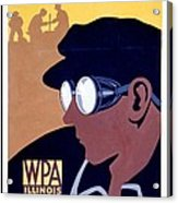 Steam Punk Wpa Vintage Safety Poster Acrylic Print