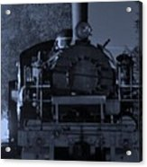 Steam Train At Night Acrylic Print