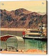 Steamer Along Lake Mead Acrylic Print
