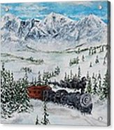 Steaming Thru The Rockies Acrylic Print