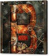 Steampunk - Alphabet - B Is For Belts Acrylic Print