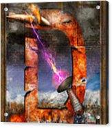 Steampunk - Alphabet - D Is For Death Ray Acrylic Print